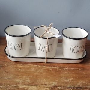 Rae Dunn HOME SWEET HOME Flower Pots